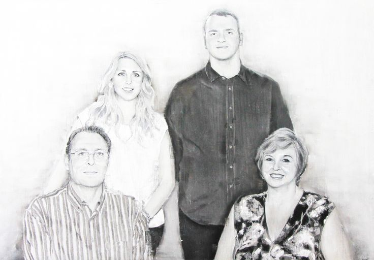 Family pyramid. Graphite & pastel on paper