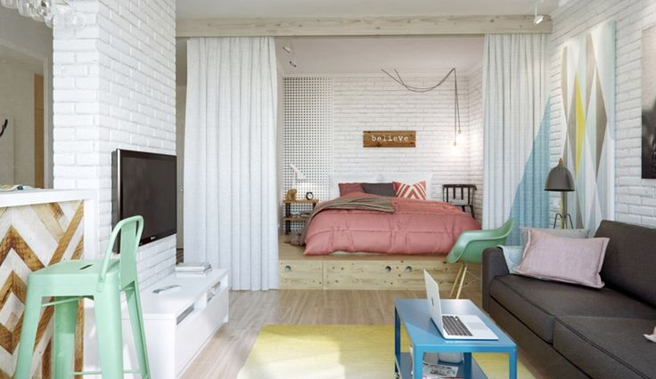 Kreativ indretning på 45 kvadratmeter - billede 2