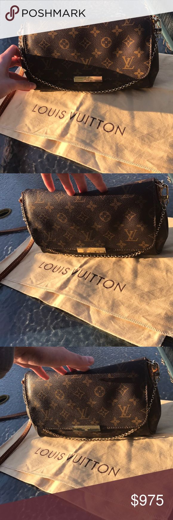Louis Vuitton Favorite PM Monogram Bag Great condition Louis Vuitton favorite PM bag in the Monogram canvas. Minor wear, hardly noticeable. Comes with the dustbag, box, and original Louis Vuitton shopping bag. Thanks for looking! No trades Louis Vuitton Bags