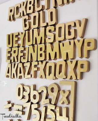 Gold refrigerator magnets from old colourful ones