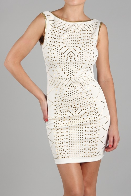 Studded Fitted Dress