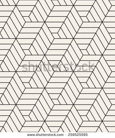 Vector Seamless Pattern Modern Stylish Texture Repeating Geometric Tiles With Hexagonal Linear Grid