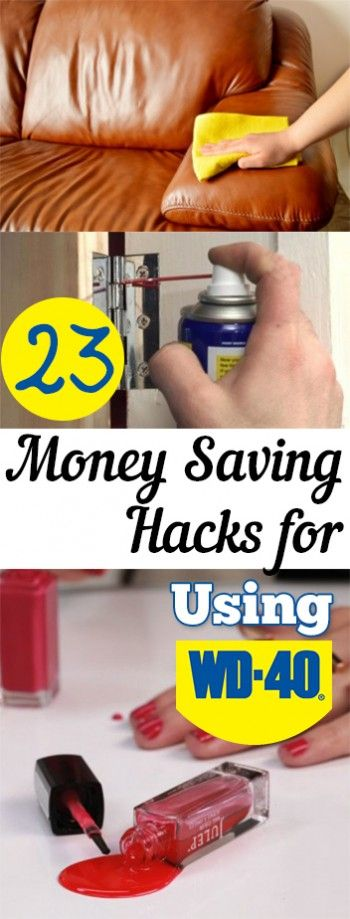23 Money Saving Hacks for Using WD 40. Tips, tricks, hacks, shopping hacks, money hacks, cleaning, life hacks, life tips.