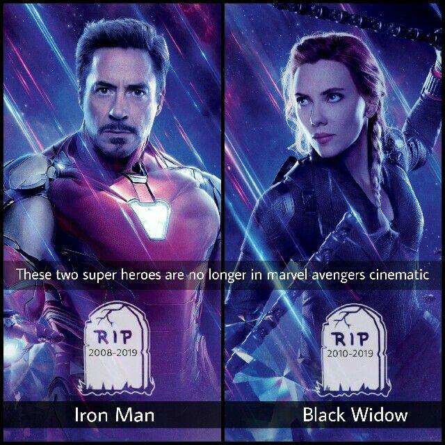 Avengers Endgame Iron Man Black Widow Avengers Marvel