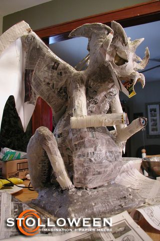 17 best images about paper mache and paper clay on for Paper mache structure