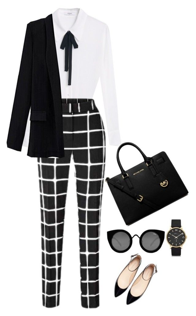 """""""Untitled #409"""" by mrsfreespirit ❤ liked on Polyvore featuring MANGO, Zara, MICHAEL Michael Kors, Marc by Marc Jacobs and Quay"""