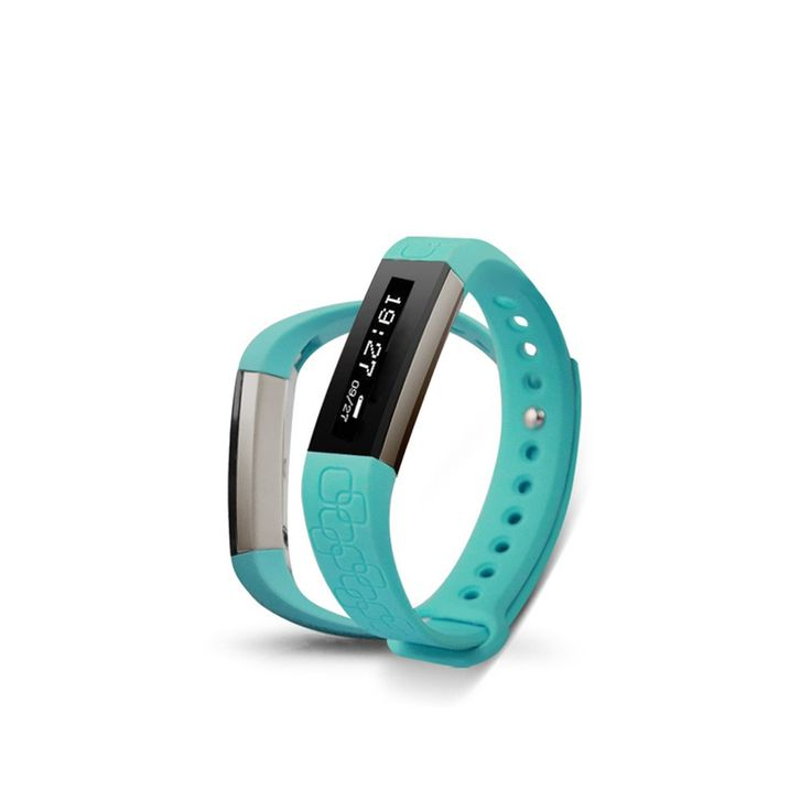 Wireless Fitness Band w/ Heart Rate Monitor in Blue | Buy Fitness Gadgets