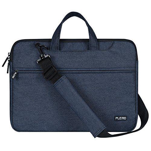 PLEMO Housse Ordinateur Portable 15 - 15.6 Pouces Avec Bretelle Pour Macbook / Notebook / Chromebook, With Shoulder Strap, Denim Bleu: Cet…