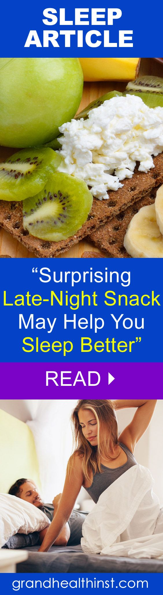 """ARTICLE: """"Surprising Late-Night Snack May Help You Sleep Better"""" READ: http://www.grandhealthinst.com/ Miami Sleep Clinic"""
