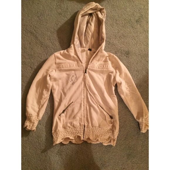 Volcom surf hoodie So cute worn once or twice. Clean in perfect condition Volcom Tops Sweatshirts & Hoodies