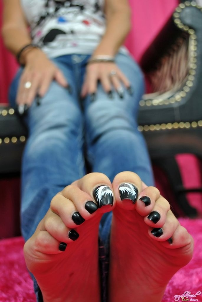 Teen Pedicure Stock Image Image Of Brunette Makeup: 17 Best Images About Long Toenails On Pinterest