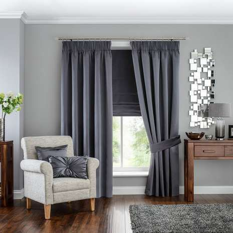 Finished in an elegant grey colourway, these sophisticated pencil pleat curtains…