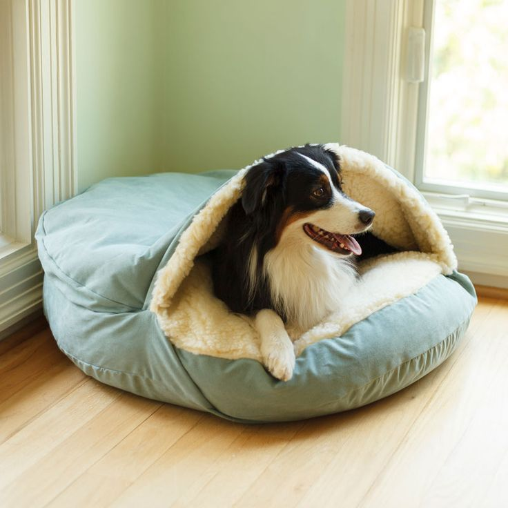 This luxury nesting dog bed features a Microsuede exterior and is great for dogs or pets who enjoy staying under the covers. Some dog breeds, such as dachshunds and terriers, prefer the extra feeling of security by wrapping themselves up in bed, making Cozy Cave Dog Beds the perfect choice. The Luxury Cozy Cave gives your dog a place to stay completely enclosed in a Sherpa interior fabric, keeping them warm throughout the year.  Features:   Microsuede exterior  Sherpa interior…