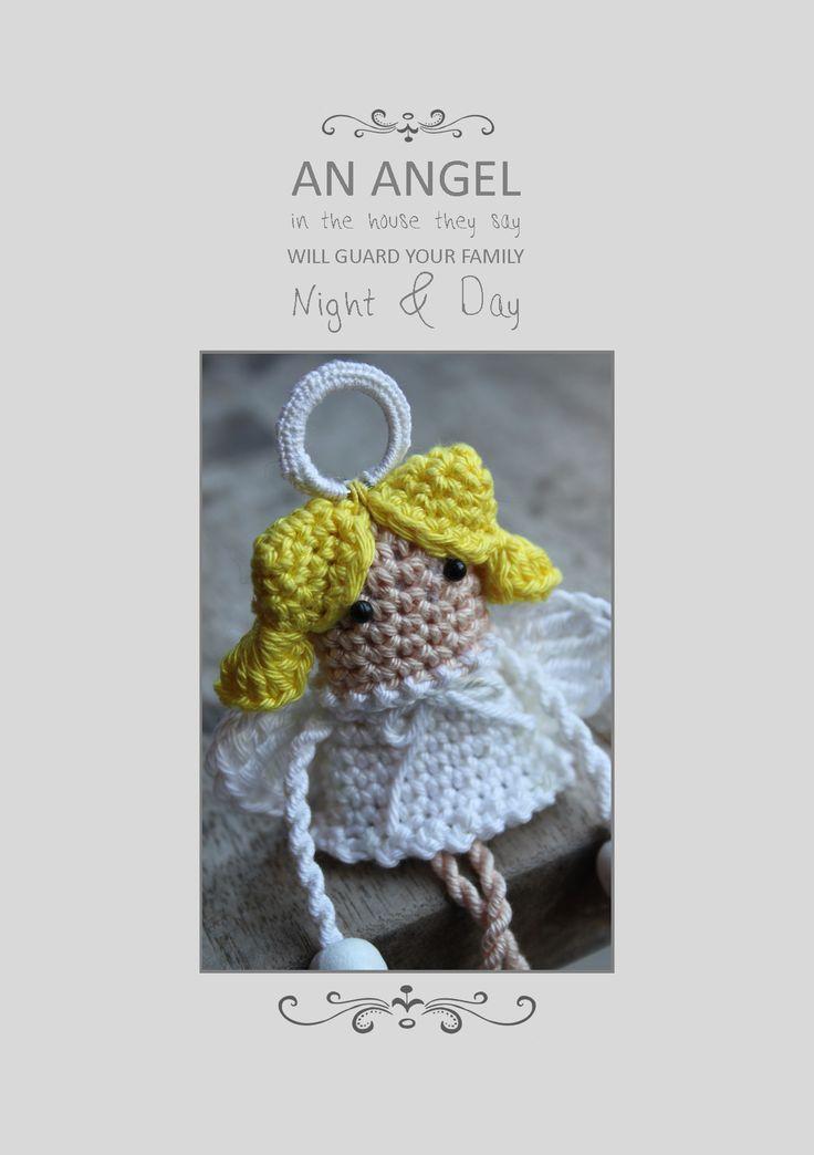 Engeltje uit Inhaken op de Feestdagen. Lief klein bescherm engeltje om in de kerstboom te hangen