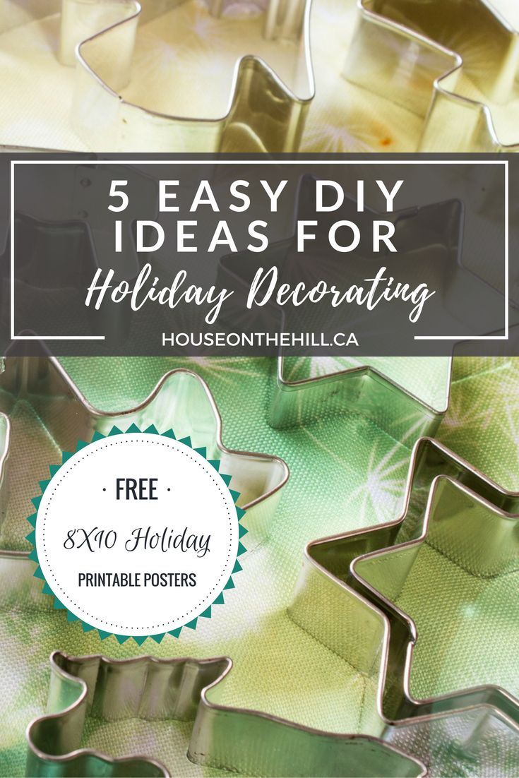 DIY Holiday Decor Ideas & 8X10 Free Printable Posters. Time for some holiday decorations DIY-style! How do you decorate on a budget with a toddler? Sharing 5 DIY holiday decor projects, including 2 free holiday 8X10 Printable Posters - one for Christmas, and one for Hanukkah! Click through to view the post & get the printables. Follow me on Facebook, Instagram and Twitter to get sneak peeks of projects I am working on.