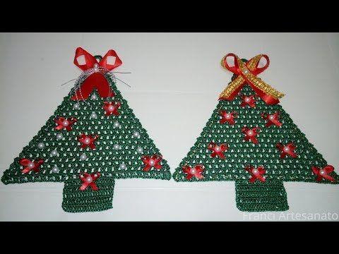 Arvore De Natal De Croche Franci Artesanato Youtube Arvores