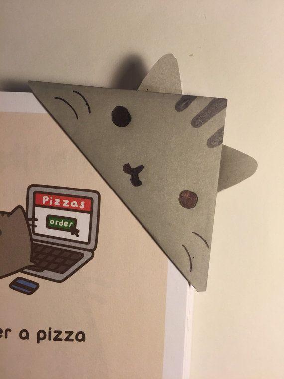 Pusheen de kat Origami bladwijzer magnetische door DoggyStudios