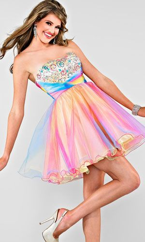 short prom dresses 2013 COLORFUL