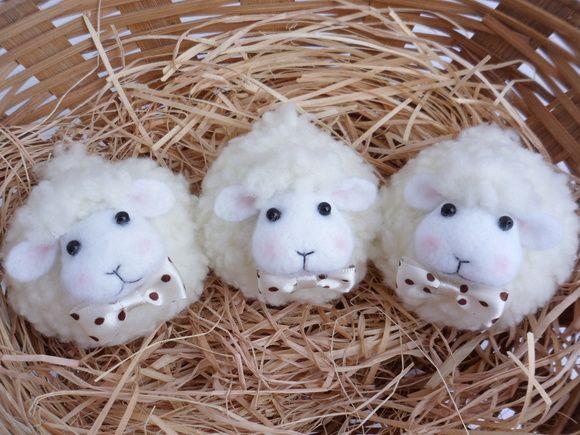 Lembrancinha Ovelhas menino | Ateliê Graciosa artes | Elo7