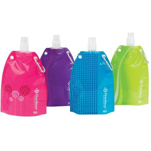 1 Liter Collapsible Water Bottles from Outdoor Products