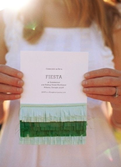 Easy and cute #DIY invitations for a fabulous fiesta.