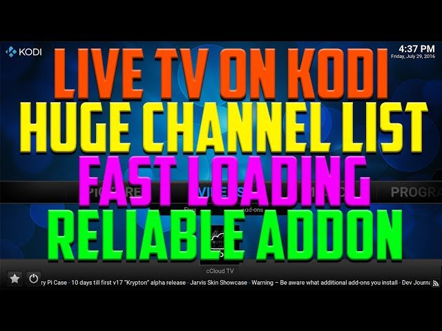 Ccloud TV has been around for a long time and is one of the best live The post ONE OF THE BEST LIVE TV ADDONS FOR KODI 2016 HUGE appeared first on Best Iptv Addon .
