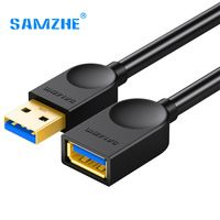 SAMZHE USB3.0 Extension AMAF A Male to A Female Cable 0.5m1m1.5m2m3m Phone USB Data and Charging Sync Transmission Cable