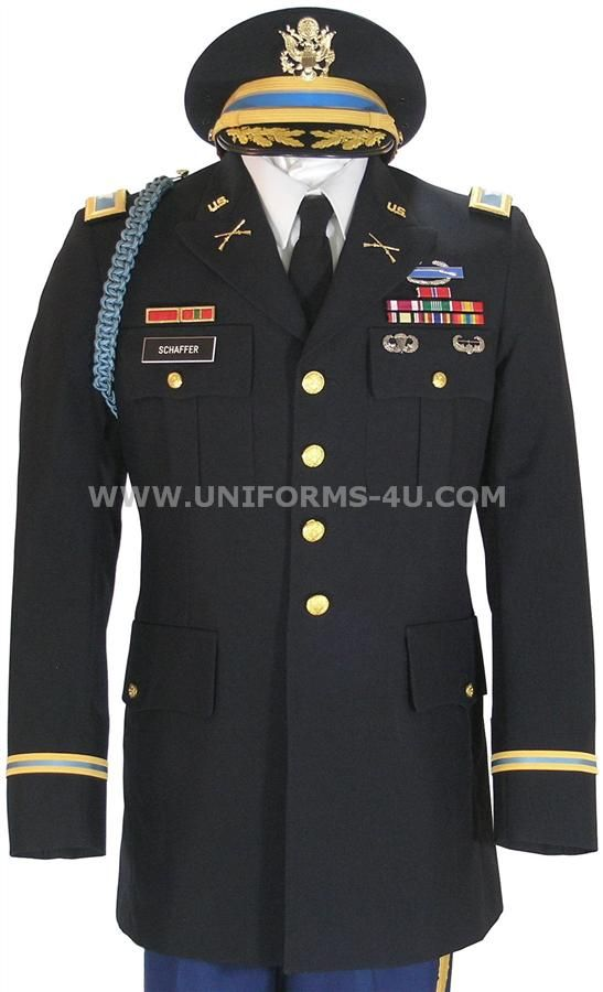 US ARMY OFFICER MALE BLUE ARMY SERVICE UNIFORM - ASU