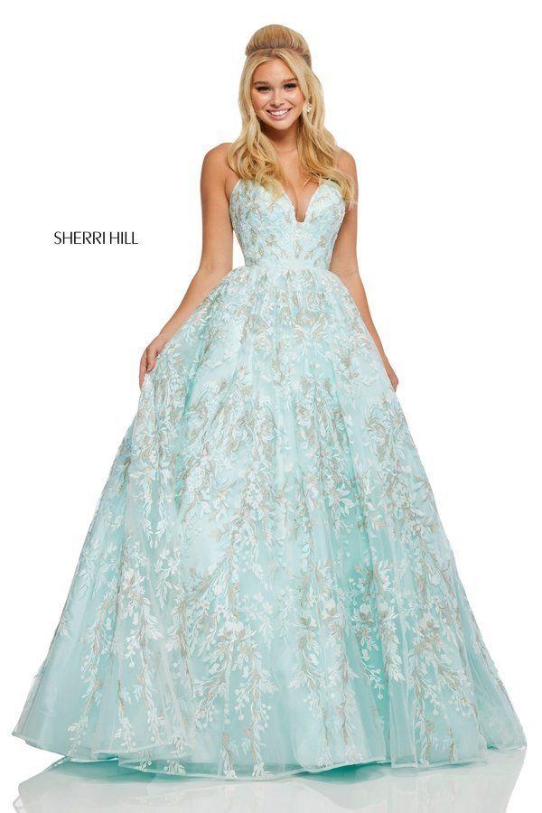 67c7efa7657c Sherri Hill Style 52759 #Seafoam Size 6   2019 PROM! in 2019   Prom ...
