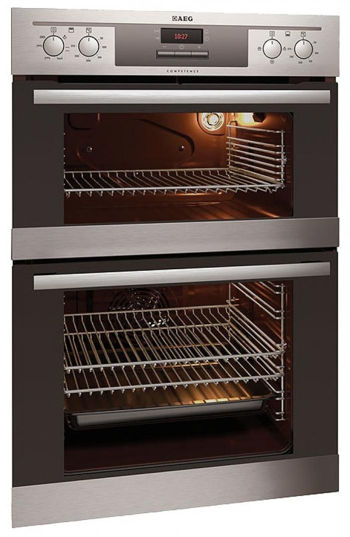 Built In Electric Oven And Grill Part - 40: AEG Oven COMPETENCE DE4003020M Electric Double Oven Built In Stainless  Steel Built-in Maxi View
