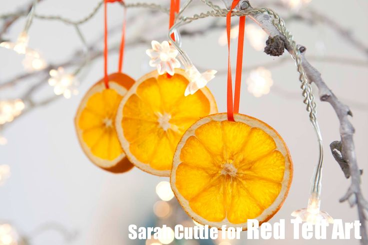 Orange Slices - how to dry orange slices tutorial - these make great ornaments or decorations/ embellishments for fall, thanks giving and Christmas. Add them as individual ornaments, garlands or to gifts!