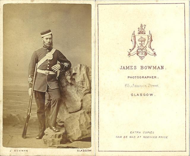 Unknown man in uniform of the 1st Lanarkshire Engineer Volunteers, Glasgow c.1870