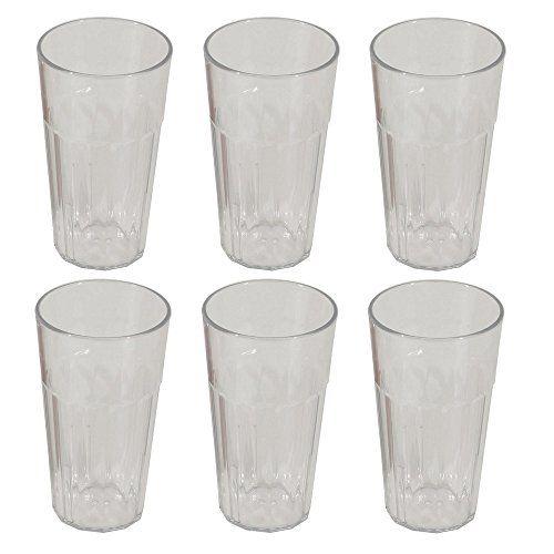 Viva Haushaltswaren - 6 x XXL bruchfestes Longdrinkglas 480 ml, Wassergläser Set aus hochwertigem Kunststoff, edle Gläser für Camping, Partys (wie echtes Glas) #Viva #Haushaltswaren #bruchfestes #Longdrinkglas #Wassergläser #hochwertigem #Kunststoff, #edle #Gläser #für #Camping, #Partys #(wie #echtes #Glas)