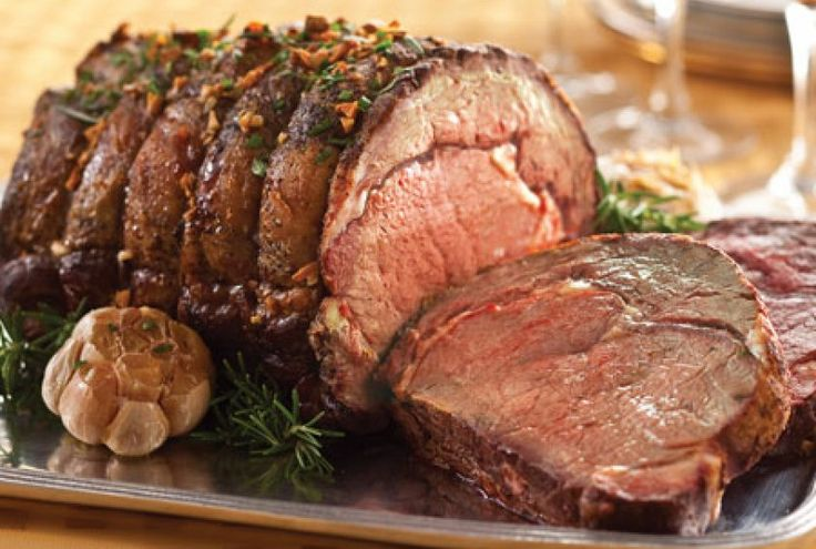 Prime rib is another popular roast served during the holidays. Studded with garlic cloves, this bone-in primal cut from Balducci's is extra...