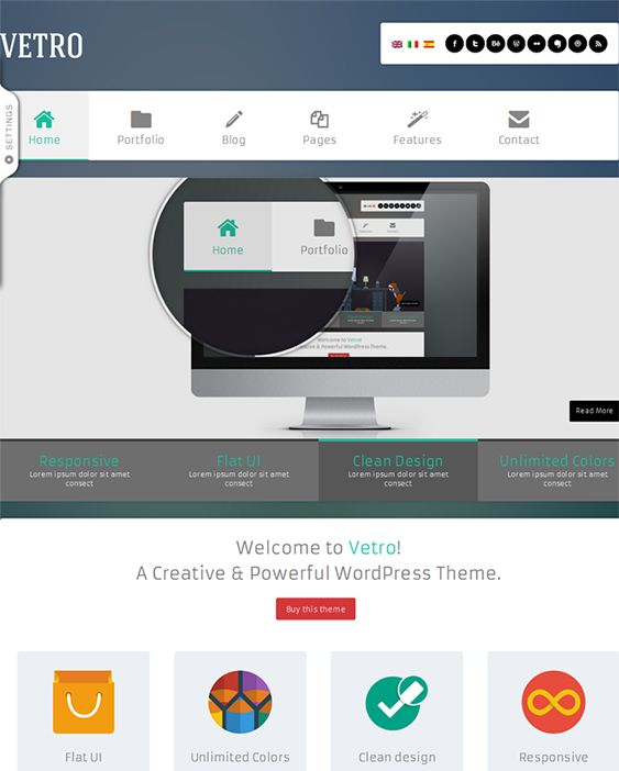 11 best 11 of the Best Flat WordPress Themes images on Pinterest ...