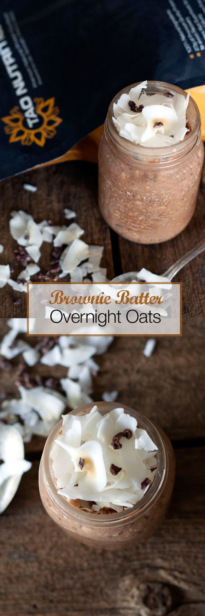 Brownie Batter for breakfast? Yes please!!! These Vegan Over night Oats are the perfect on the go breakfast, just make them the night before and grab it with a spoon to eat on your commute or at your desk! Use gluten free oats for a simple gluten free option!