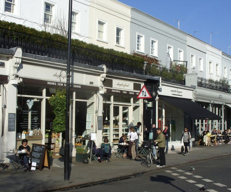 Outside Daylesford Organic on Westbourne Grove.