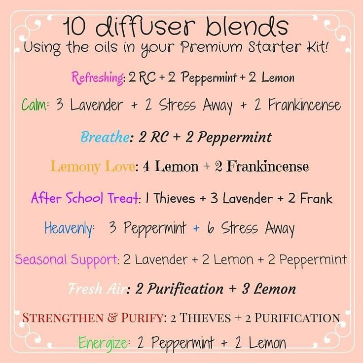 10 diffuser blends using the oils in your Young Living Premium Starter Kit!