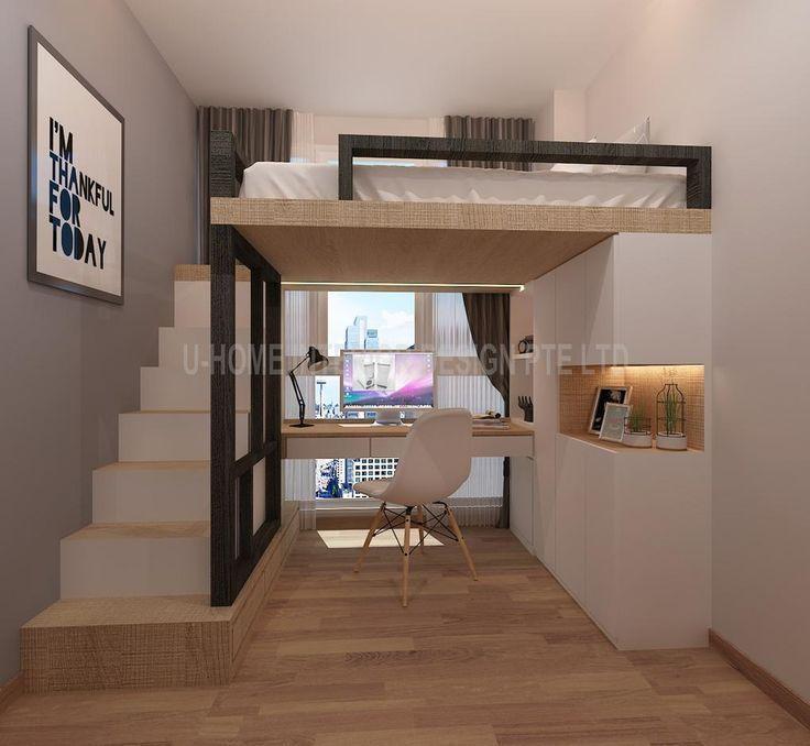 Hochbett Design von U Home Interior Design – #appartement #Design #Hochbett #Hom