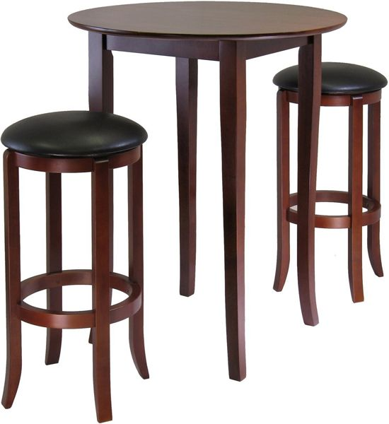 Pub Style Table Sets Part - 48: The Three-Piece Pub Table Set Makes You Feel Like You Are Dining Out When
