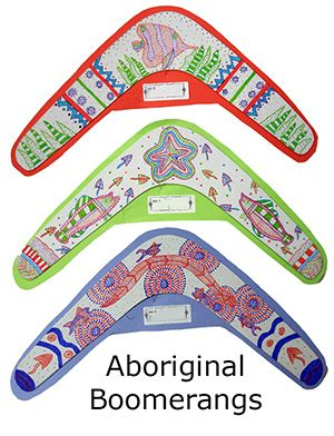 Aboriginal Boomerangs adapt dot art from 2012