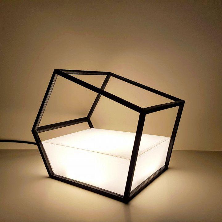 Geometric Lamp Stl File In 2020 Geometric Lamp Geometric Table Lamp Geometric Table