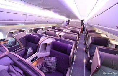 ビジネスクラスは天井広々 特集・シンガポール航空A350の機内