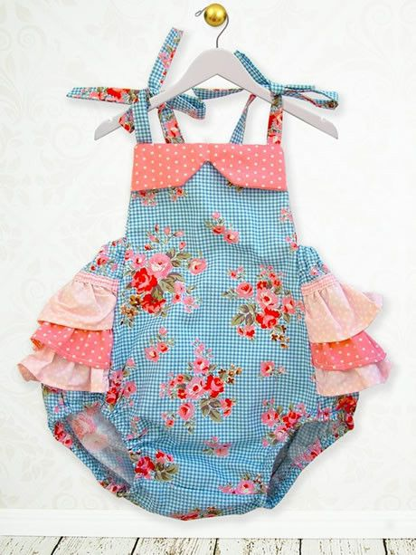 Isabella Baby Romper Sewing Pattern | My Childhood Treasures