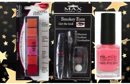 LIKE, AND WIN!!! de Facebook pagina van de dagdeal bij www.margedeals.nl en win het 7 Delig Kerst Beauty Make Up geschenkset en wij verloten dit pakket onder alle dag ''Likers''    7 Delig Kerst Beauty Make Up Geschenkset  Inclusief verzendkosten  Inhoud 7 delig kerst beauty geschenkset  3 flesjes kerst kleuren Black Onyx nagellak  Max Smokey Eyeshadow, Mascara, Eyeliner  Max 7 Color Lip Gloss incl. spiegel  Verzending voor de kerstdagen  Luxe voor iedereen bij...MargeDeals
