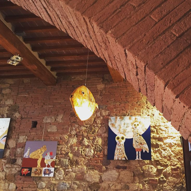 #ELucevanLe Stelle, Wine Bar and Bistro in #Montepulciano, #Tuscany. Artworks by Enrico Paolucci
