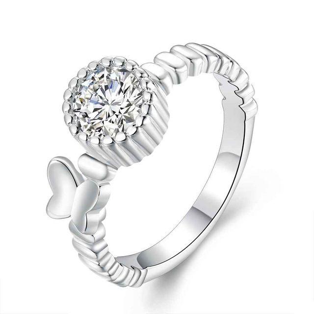 Бесплатная Доставка aliexpress посеребренная серебряные кольца Бабочка вставки anillos. нам медведь свадьбы
