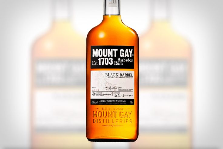 Mount Gay Black Barrel Rum >> This small batch from the mind of Master Blender Allen Smith combines previously aged reserves from both pot and column distillates and finishes them with an extended stay in deeply charred Bourbon oak barrels. The end result is a dark coppery-gold liquid with a nose of citrus, complimented by vanilla and charred wood. We're told to expect a moderate mix of sweet spice and pepper on the palate, with a hit of smoke on the finish.