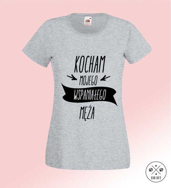 Kocham+Męża,+Damska+koszulka+z+nadrukiem+w+DDshirt+na+DaWanda.com