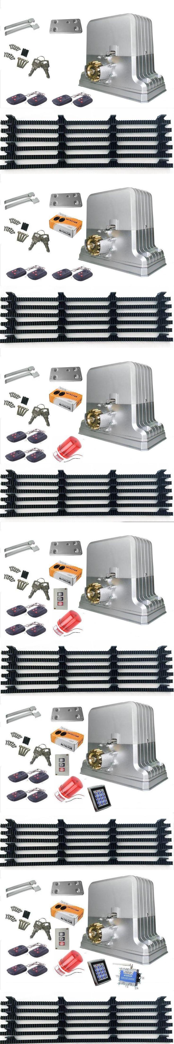heavy duty 2800lbs 1500kg electric sliding gate motors/automatic gate opener engine 6m racks 1photocel(GSM/RFID keypad optional)